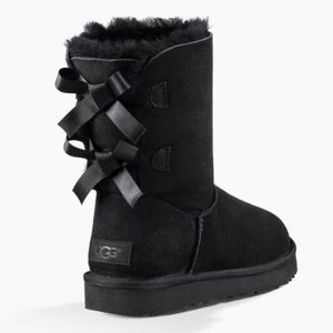 UGG Black Bailey Bow II Boots